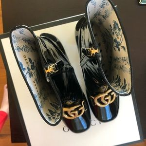 514592ebb Gucci Shoes | Patent Leather Ankle Boot With Double G | Poshmark